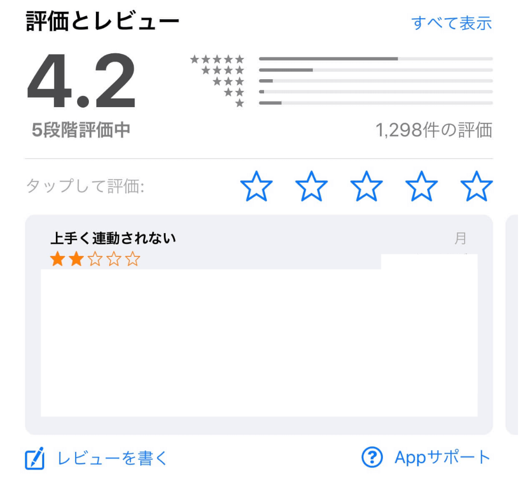 iOSのApp評価に出てくる名前について